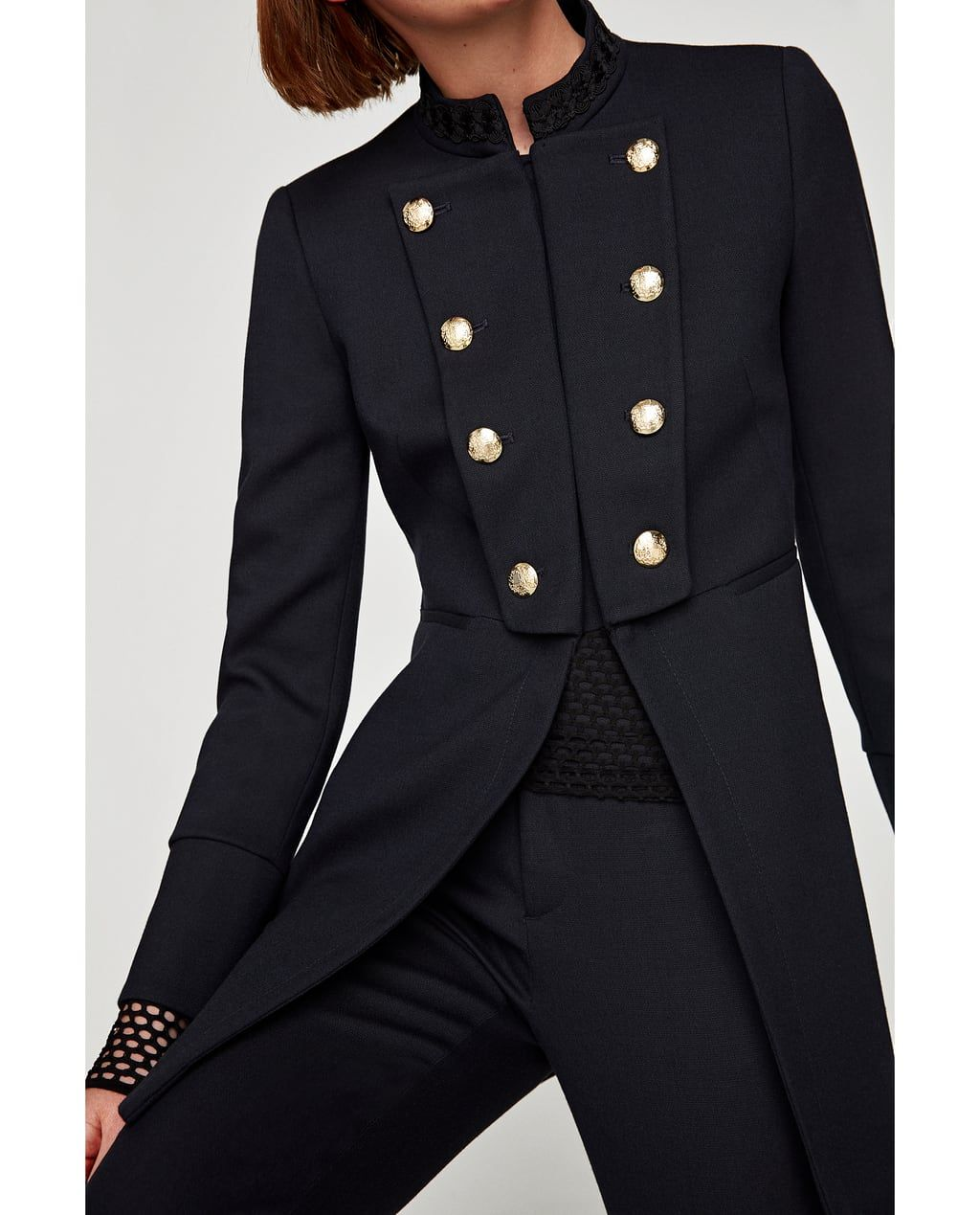 Manteau officier femme zara