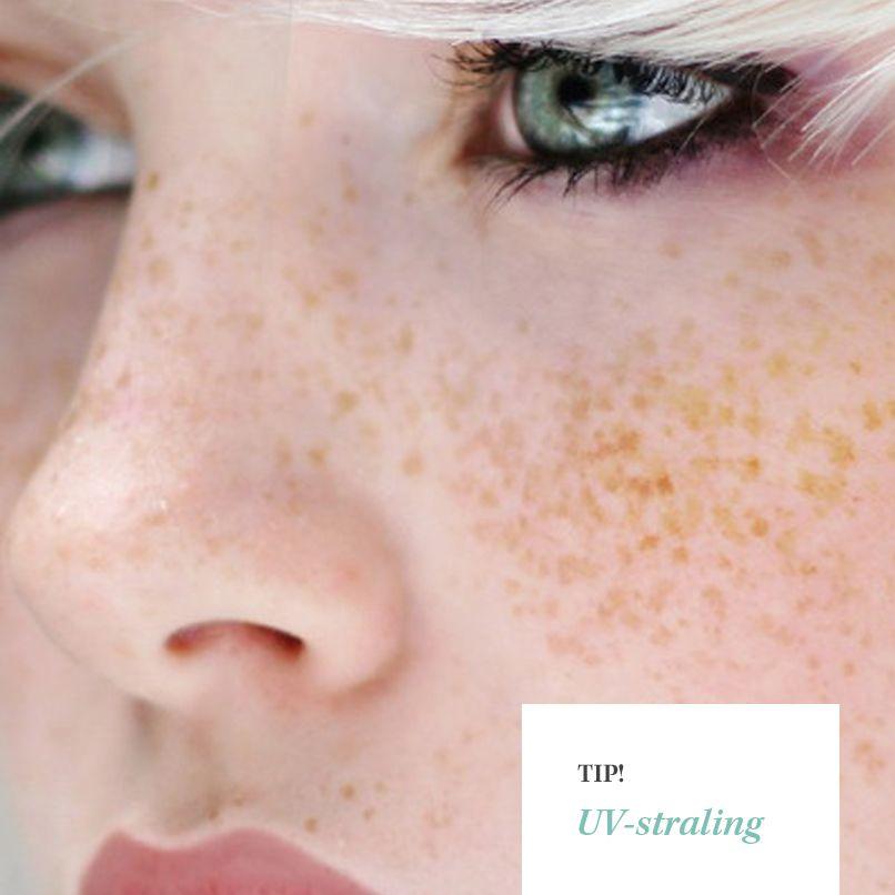 Tip! De zon lijkt in Nederland niet heel scherp te zijn, maar heeft wel degelijk effect op de huid. Draag daarom altijd een dagcrème met UV-bescherming. Zo krijg je minder last van oneffenheden, droge huid en rimpels.
