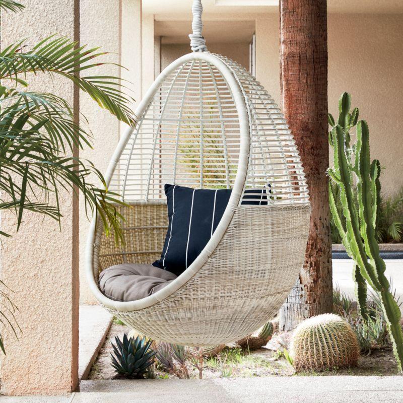 Pod Hanging Chair Cushion Hanging Chair Chair Cushions Cane Furniture