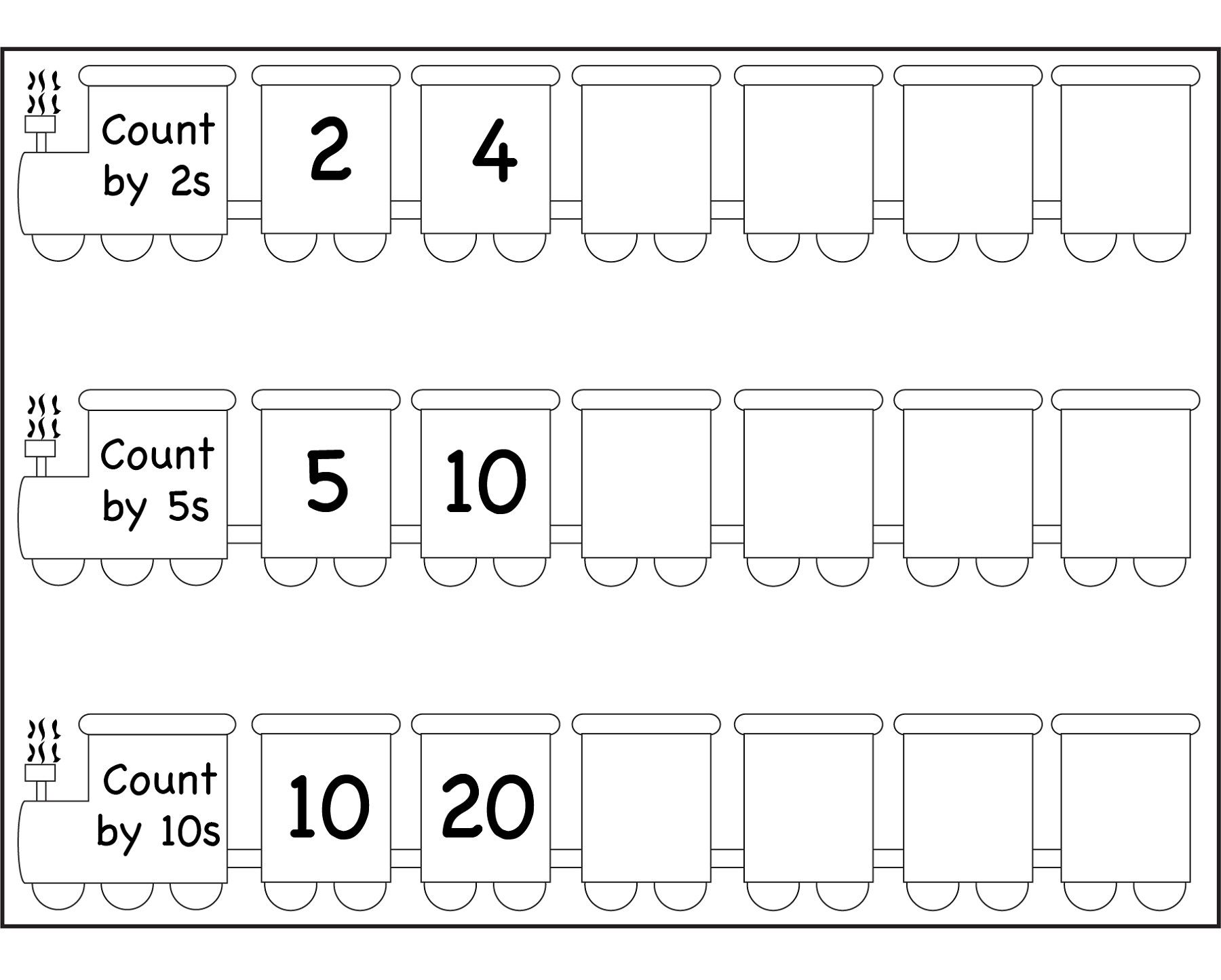 2 Skip Count By 5 Worksheet Fun 1 In