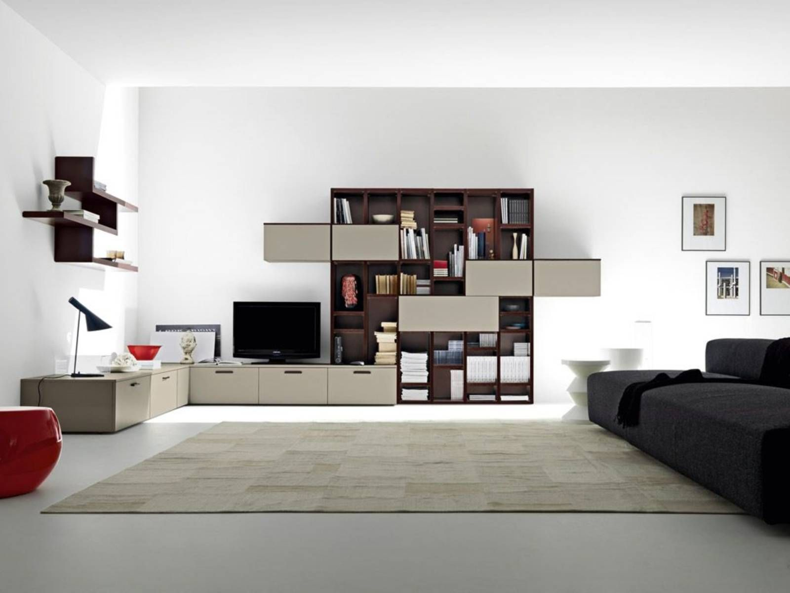 Furniture Minimalist Decorating And Open Living Space That Draws ...