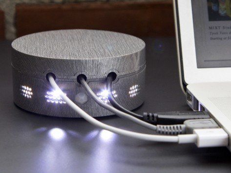 Always know where your tech device's wires are located at all times! Wire Organizer from Cord Buddy-  Never fumble in the dark again trying to find your charger cable. Designed with a dim light to illuminate your cords, it is the perfect bedside accessory to keep your cables secure and out of the way. #RealEstate #NYC