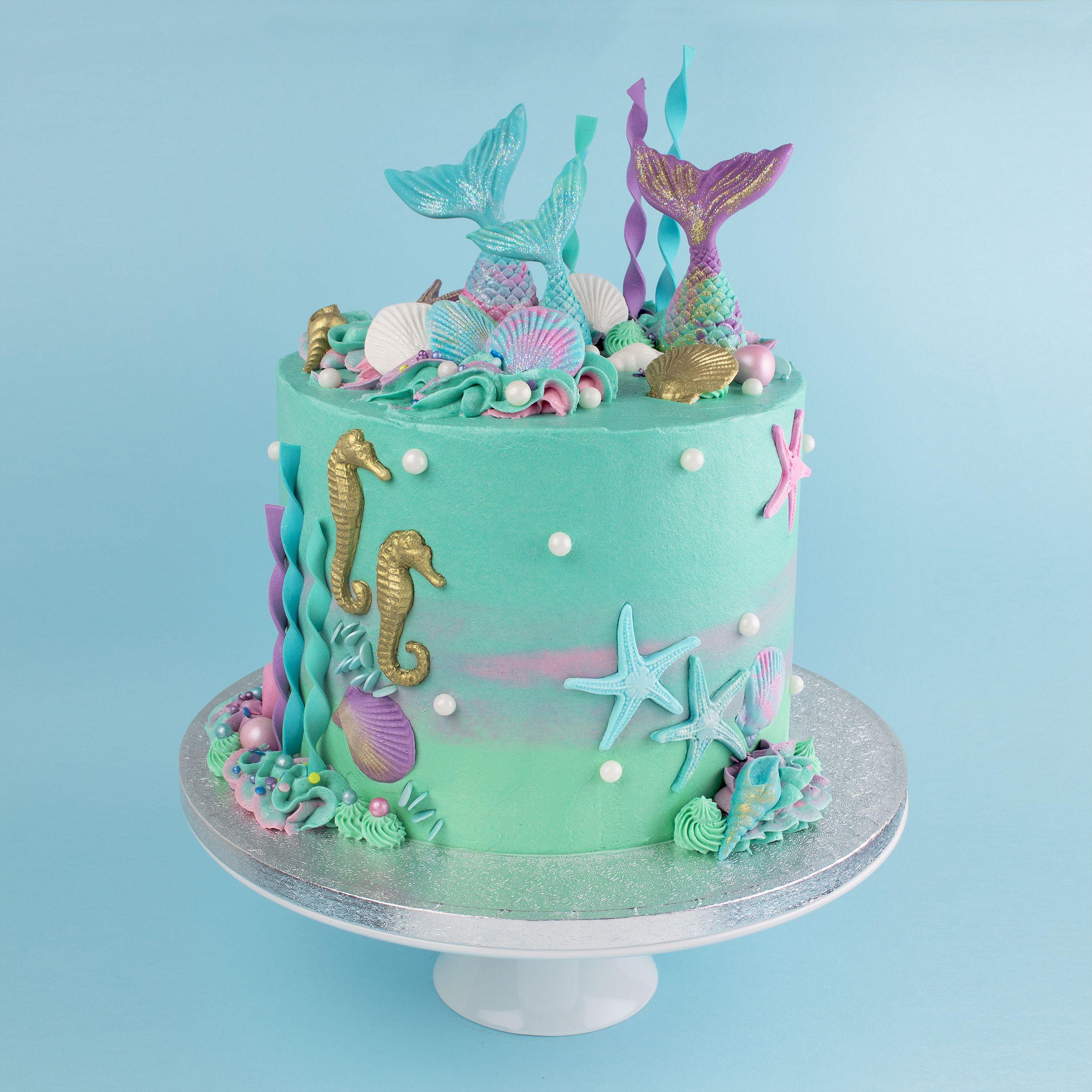 Made By Www Bakedby Me Mermaid Birthday Cakes Mermaid Cakes