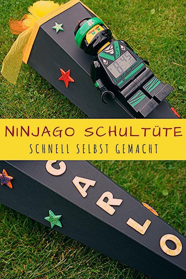 Photo of Anleitung zum Basteln einer Lego Ninjago Schultüte
