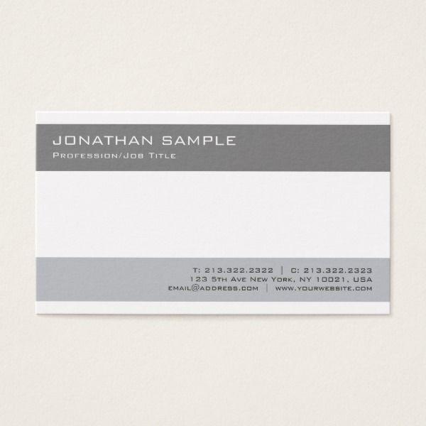 Professional simple plain modern elegant grey business card professional simple plain modern elegant grey business card reheart Gallery