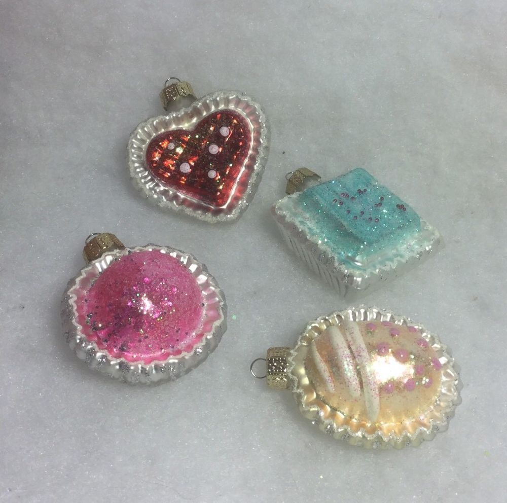 Martha Stewart Christmas Tree Topper: Mini Petit Four Sweet Candy Christmas Tree Ornaments