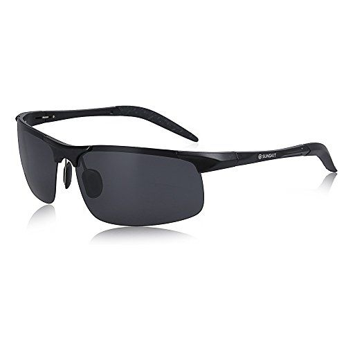 42b317ae0b SUNGAIT Mens HD Polarized Sunglasses for Driving Fishing Cycling Running  Metal Frame UV400 Black Gray   You can get more details by clicking on the  image.