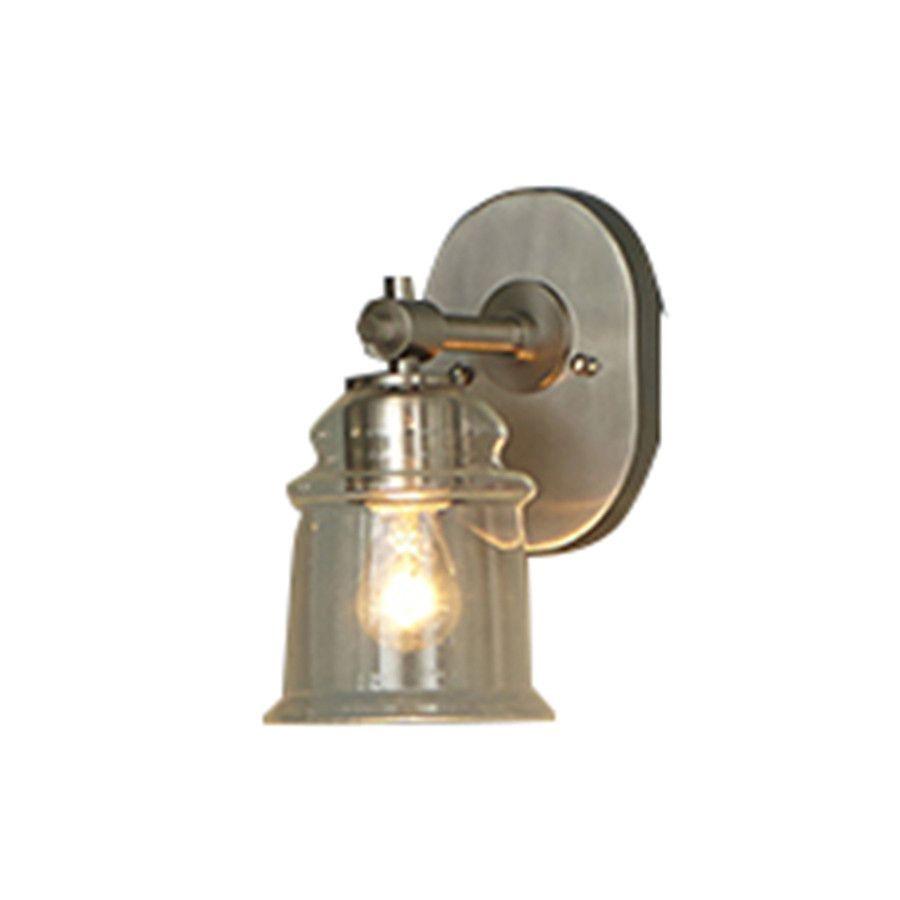 Allen roth winbrell 1 light brushed nickel bell vanity light allen roth winbrell 1 light brushed nickel bell vanity light aloadofball Images