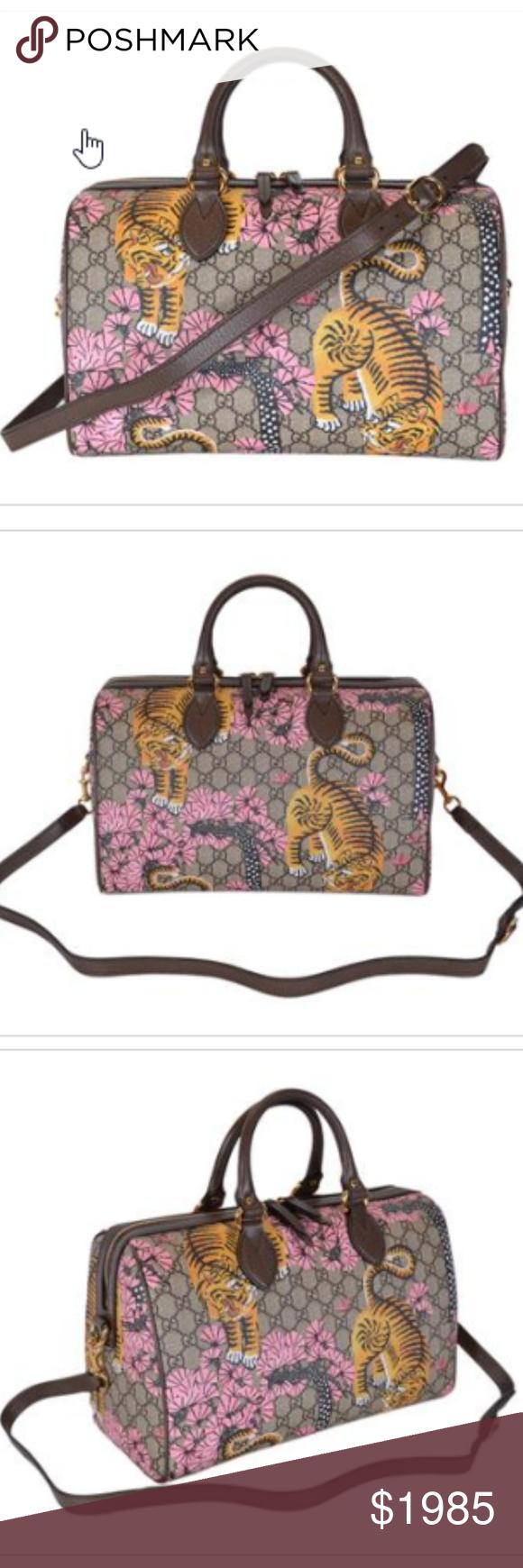 d6bd8739c79 New Gucci Women s GG Supreme Bengal Boston Purse New in Gucci Bengal Tiger  Box Style 409527
