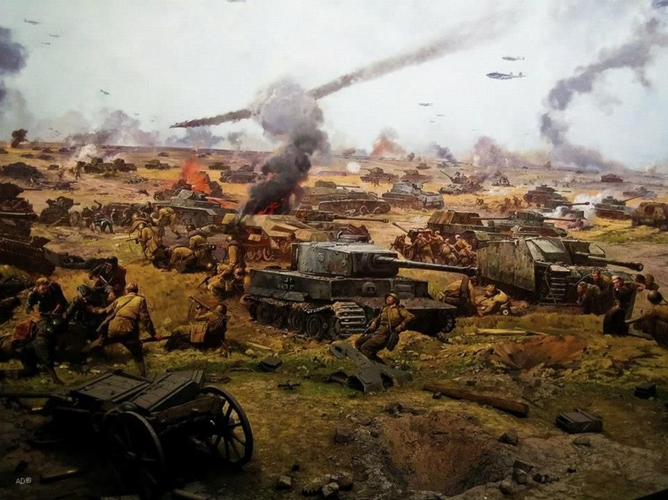 Artistic representation of the largest tank battle of the history ...