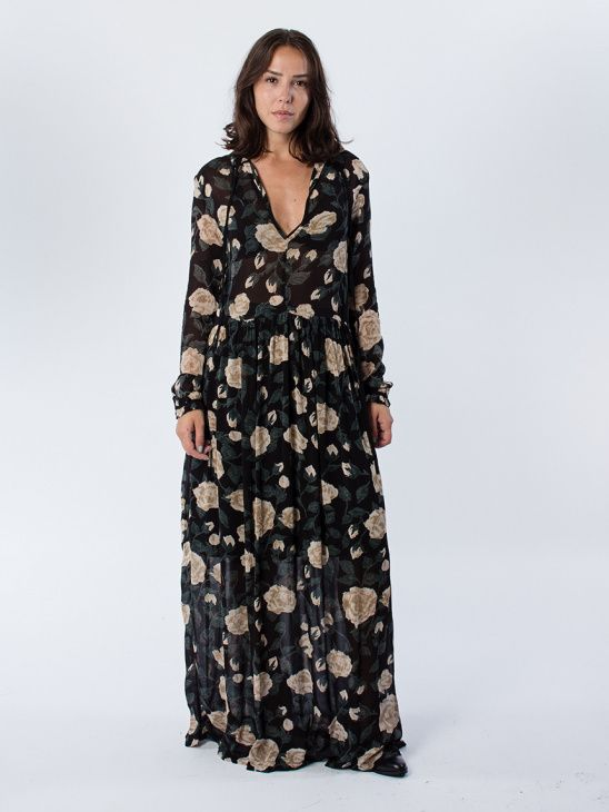 75552fee1a1c Ganni Carlton Georgette Maxi Dress | My Style | Klänningar