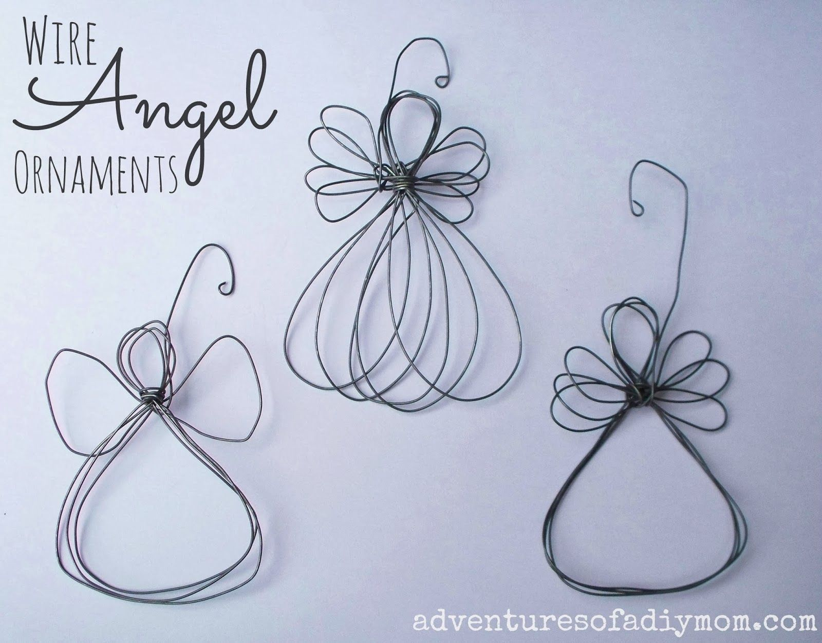 How To Make A Wire Angel Ornament Nativity Ornament Series Diy Christmas Ornaments Christmas Crafts Christmas Angels