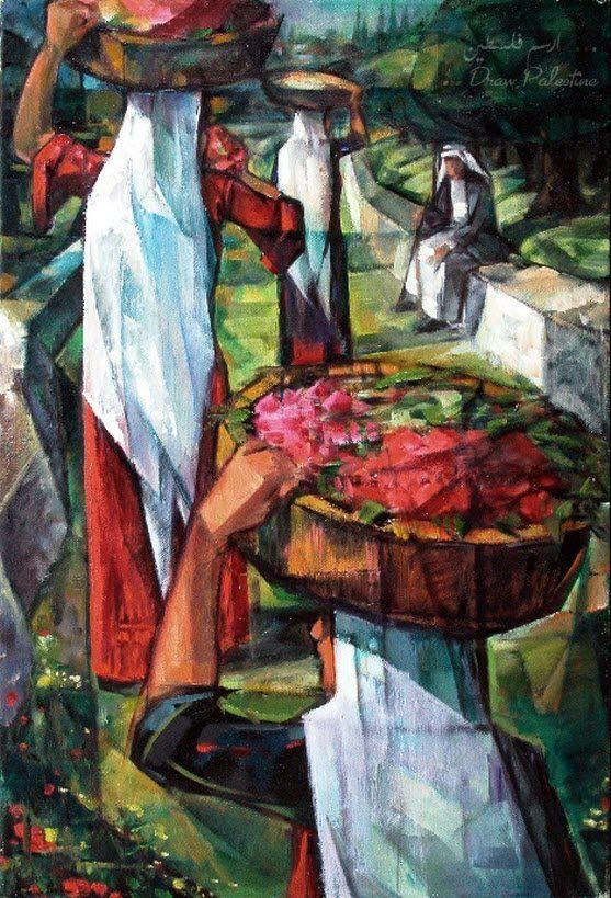 امل العودة لوحة من اعمال الفنان المبدع الراحل اسماعيل شموط Palestine Art Middle Eastern Artists Middle Eastern Art