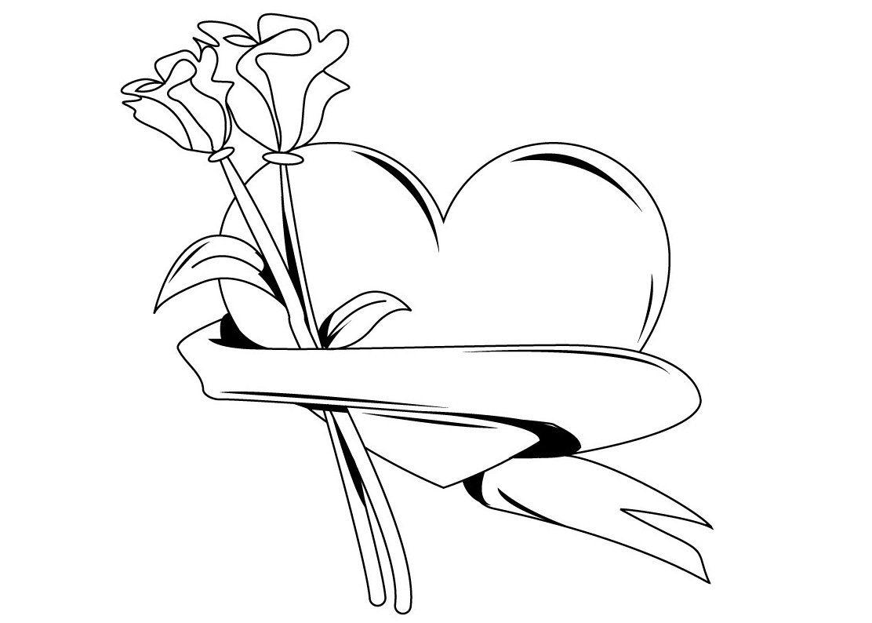 dibujos-para-colorear-de-rosas.jpg (1112×794) | tatuajes | Pinterest ...