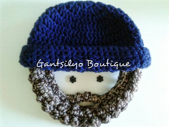 dc7c1604801 Baby Bearded Beanie - Fall   Winter Hat - Gift Idea - Photo Prop - Handmade  - Made to Order. Boy OutfitsDaily InspirationBeanieEtsy ShopIdeasBabyInfant