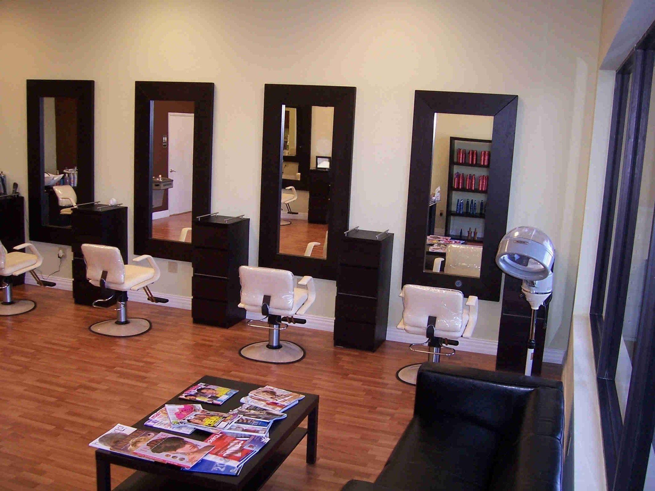 Love dark floors and walls My dream salon Pinterest  Salon suites