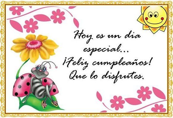 Feliz Cumpleaños...Hoy es un día muy especial…Feliz cumpleaños!// http://xn--mensajesdecumpleaos-c4b.com/