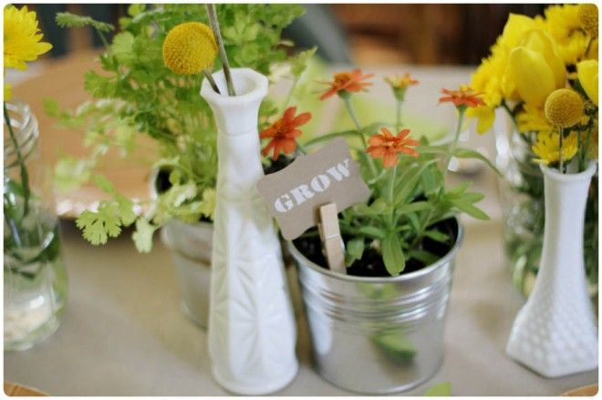 Rustic Garden Themed Baby Shower Rustic gardens Themed baby