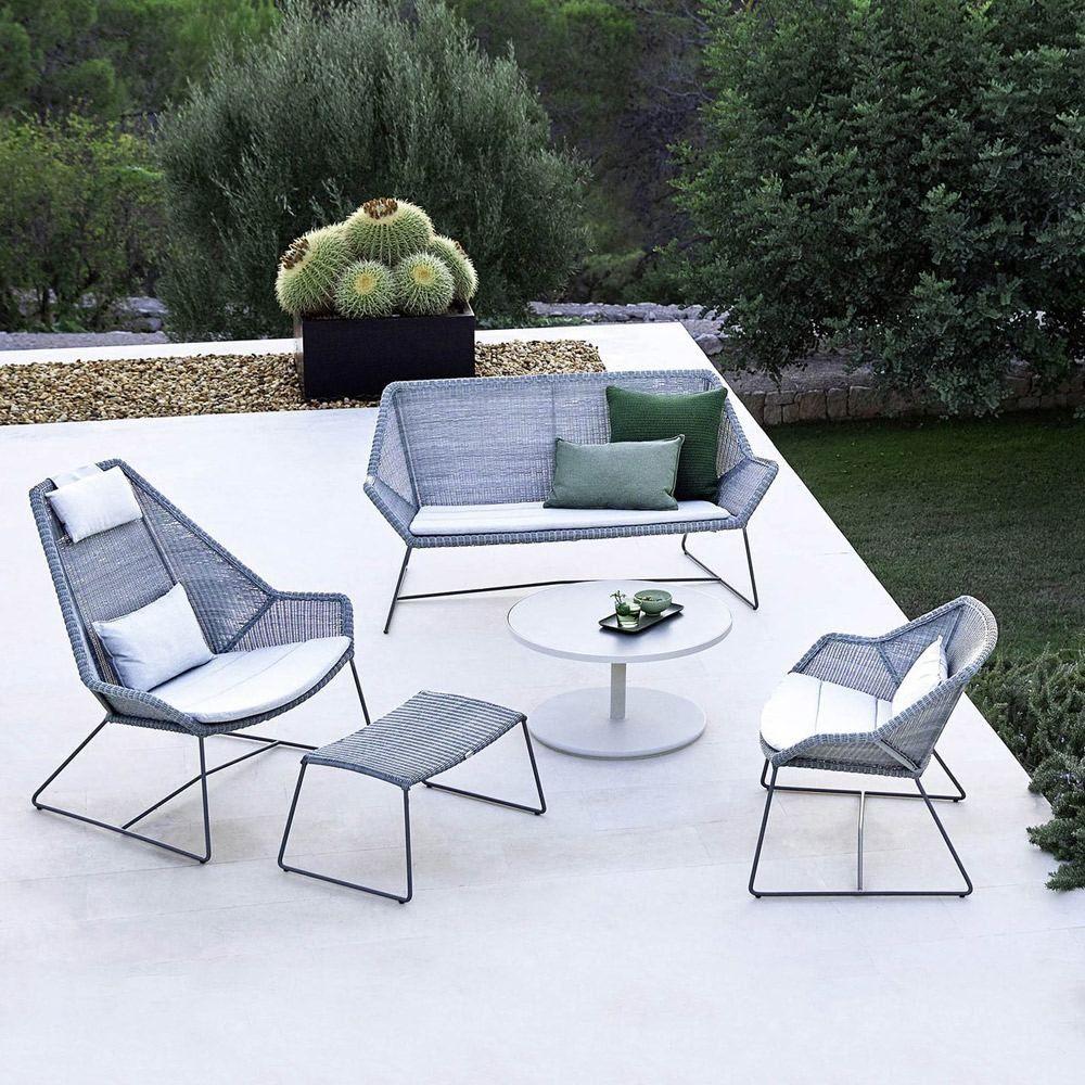 Cane Line Breeze 2 Seater Lounge Sofa Light Grey Houseology Modern Outdoor Lounge Modern Outdoor Lounge Furniture Outdoor Lounge Furniture