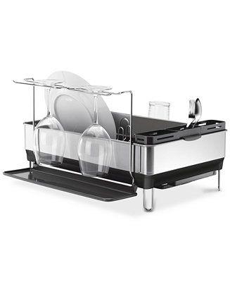Best Simplehuman Dish Rack Steel Frame With Wine Glass Holder 400 x 300