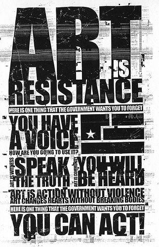 Art is Resistance flyer from the Nine Inch Nails