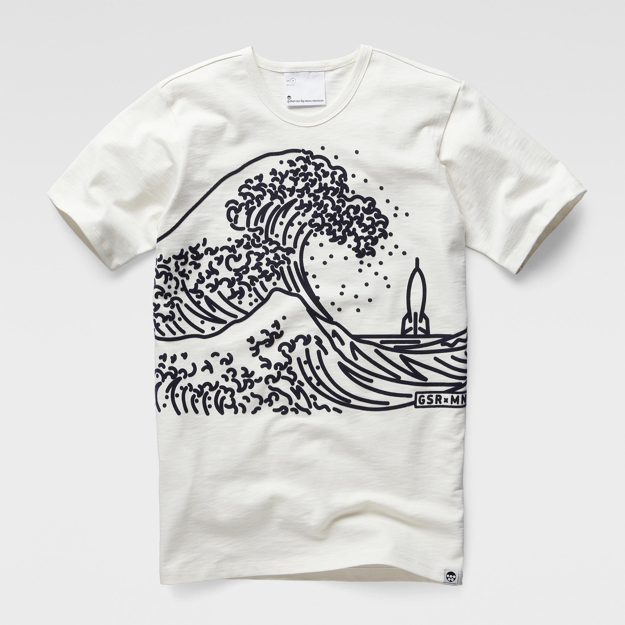 Black light t shirt ideas - Marc Newson Wave T Shirt