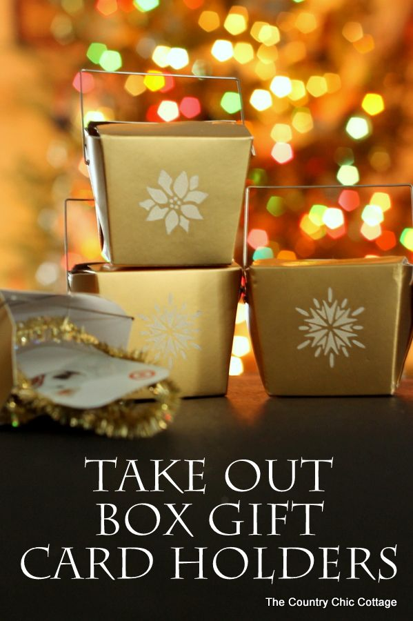 Take Out Box Gift Card Holders - The Country Chic Cottage