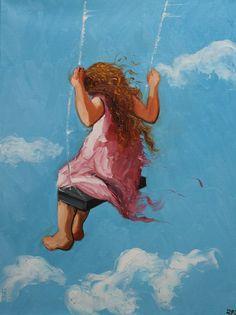 Girl on a swing...
