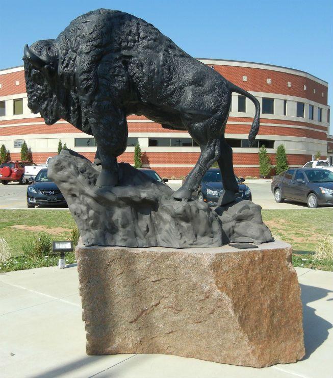 Altus Buffalo Statue Base Statue Base Statue Native American Life