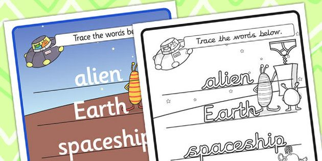 Aliens Love Underpants Topic Word Tracing Worksheet Aliens Love Underpants Word Tracing Aliens Love Underpants Word Tracing Themed Word Tracing