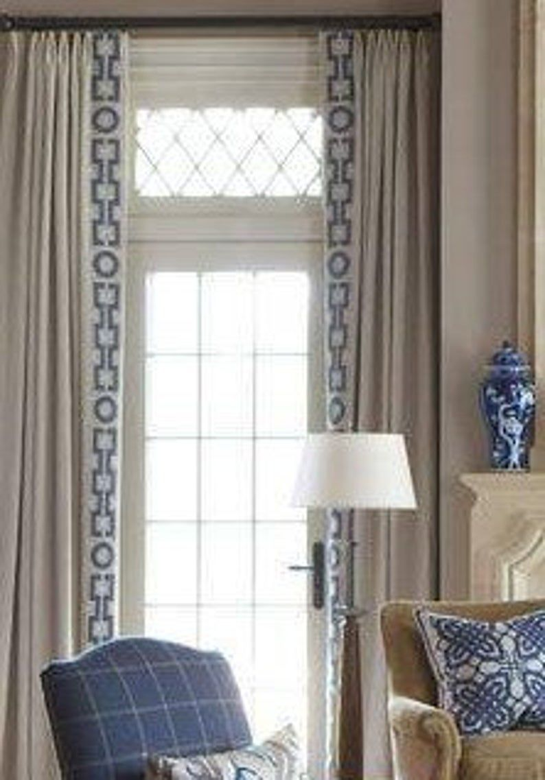 Your Fabric My Lining Pinch Pleated Curtains French Pleat Etsy