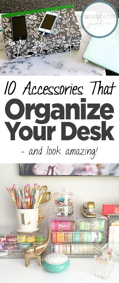 10 Accessories That Organize Your Desk U2014 And Look Amazing! Desk  Organization, How To Organize Your Desk, Fast Ways To Organize Your Desk,  Desk Organization ...