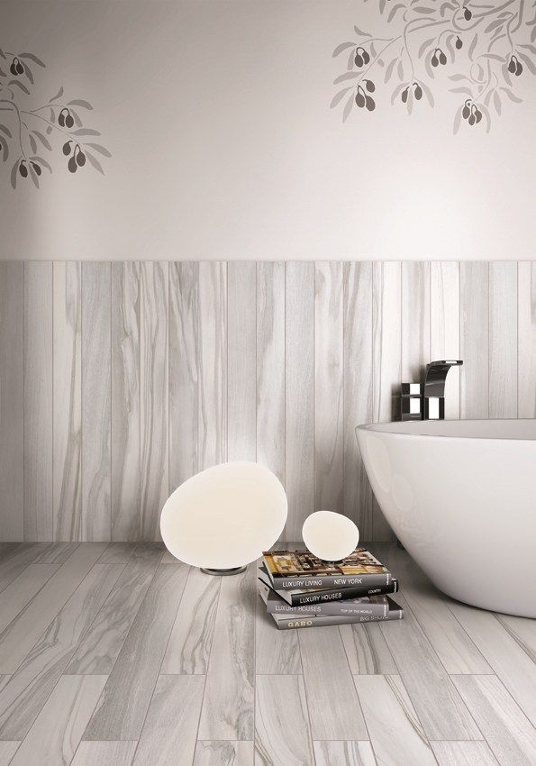 Lay Wood Effect Tiles Vertically On Your Bathroom Walls This Looks