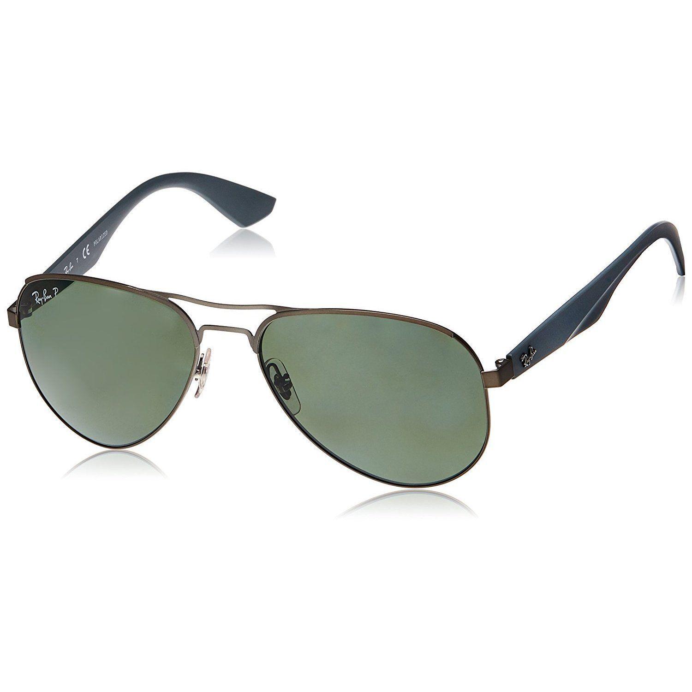 dae0f26e91 Ray-Ban RB3523 029 9A Gun  Frame Polarized Green 59mm Lens Sunglasses