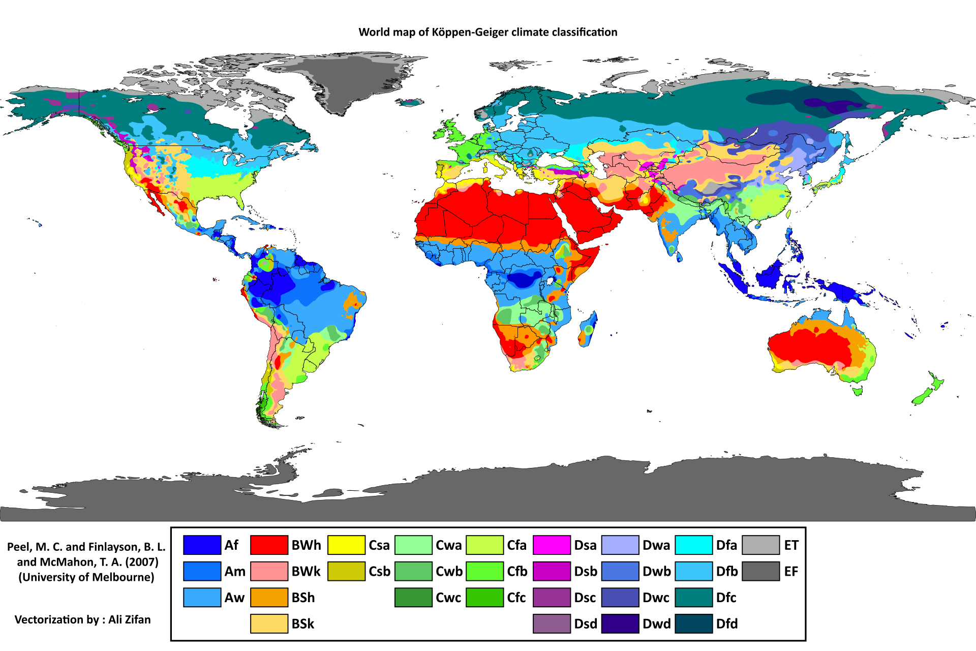 Koppen Climate Classification