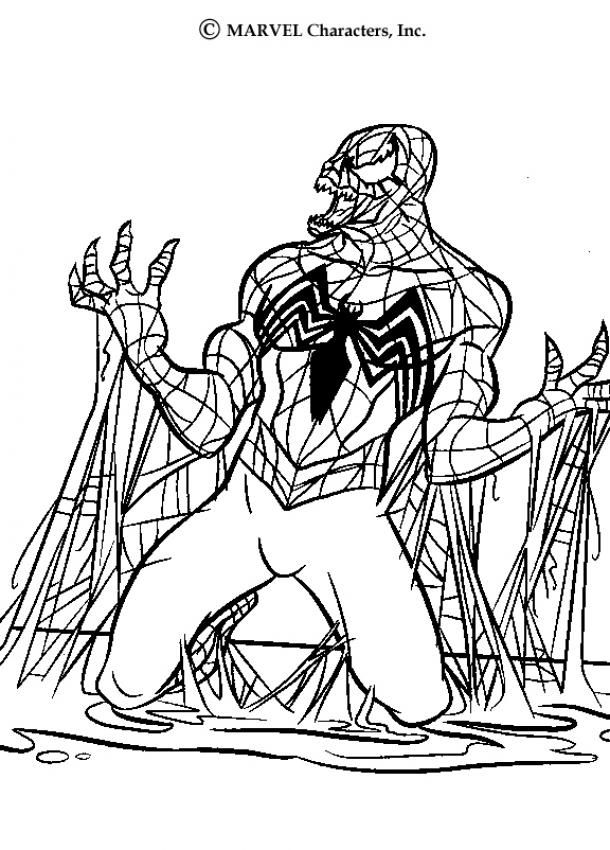 Spider Man Coloring Pages Venom With Images Spiderman