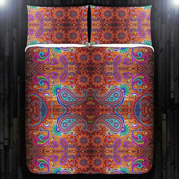 Gypsy Hippie Paisley Bohemian Boho Bedding Duvet Cover