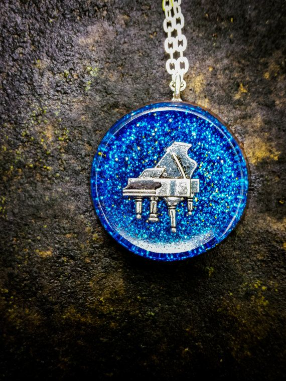 Orgonite Piano Necklace  Free Shipping In US by FountainOfSpirit