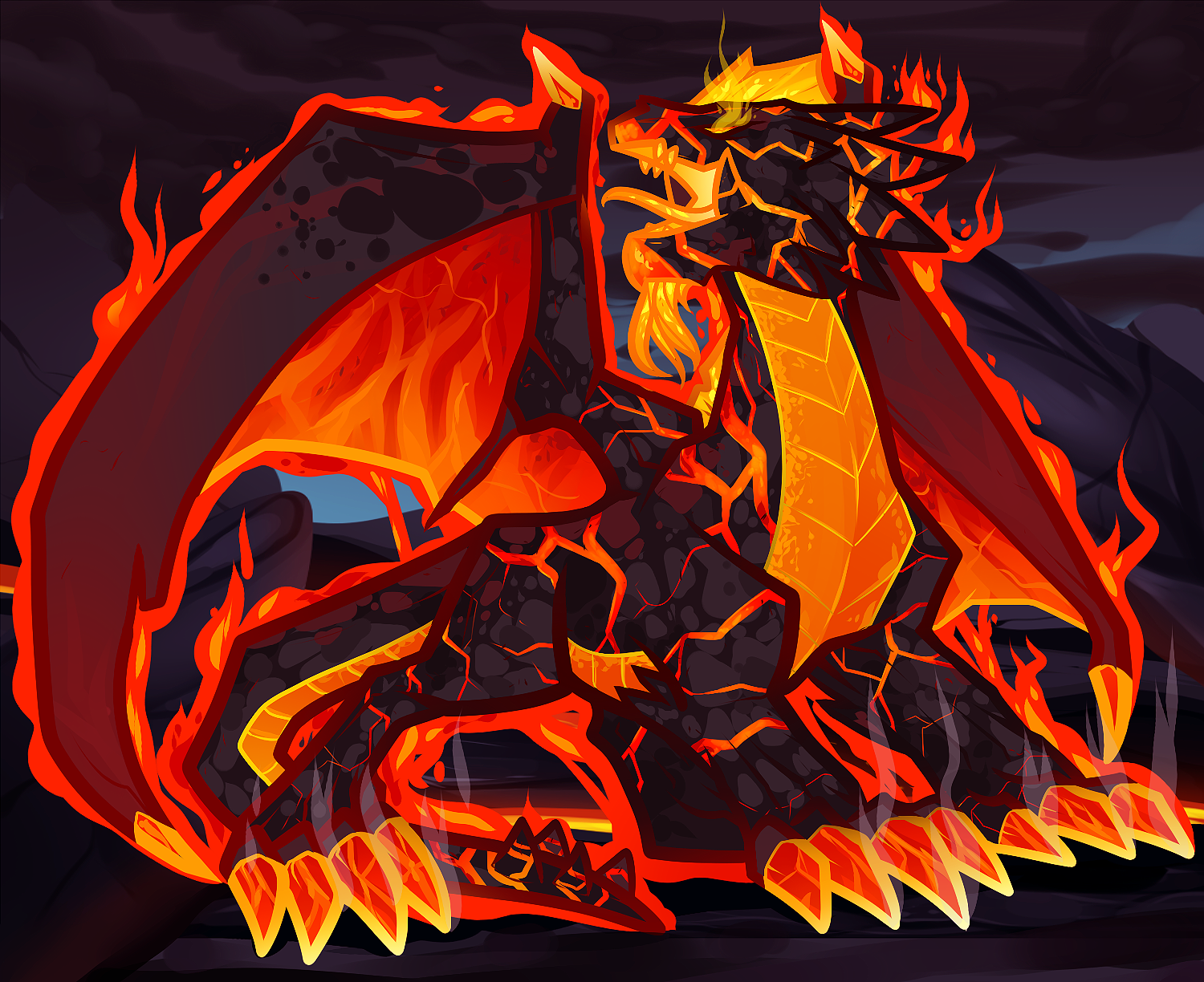 Magma Fire Dragon, Red Dragon Elemental By Dragoart On Deviantart · How To  Draw