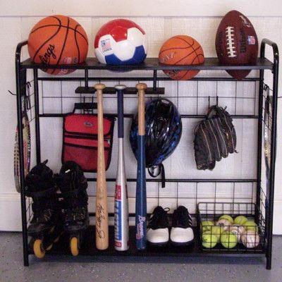 Garage Storage Bins Rack Bat