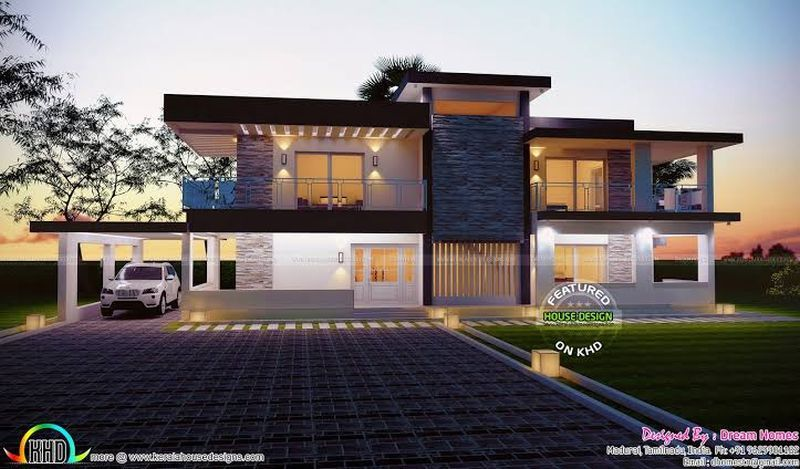 Modern Canada House Design With Zen Type Duplex House Design And Exterior House Colors For Mo Kerala House Design Contemporary House Design Duplex House Design