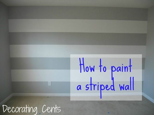 Painting A Striped Wall Striped Accent Walls Striped Walls