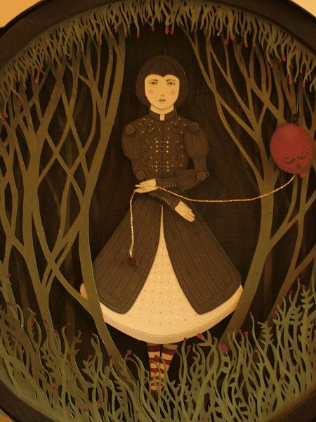 Lindsey Carr ~ 'Dark Forest' paper theatre