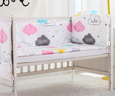 5 Stücke Wolke Baumwolle Kinderbett Bettwäsche Set Cartoon Baby