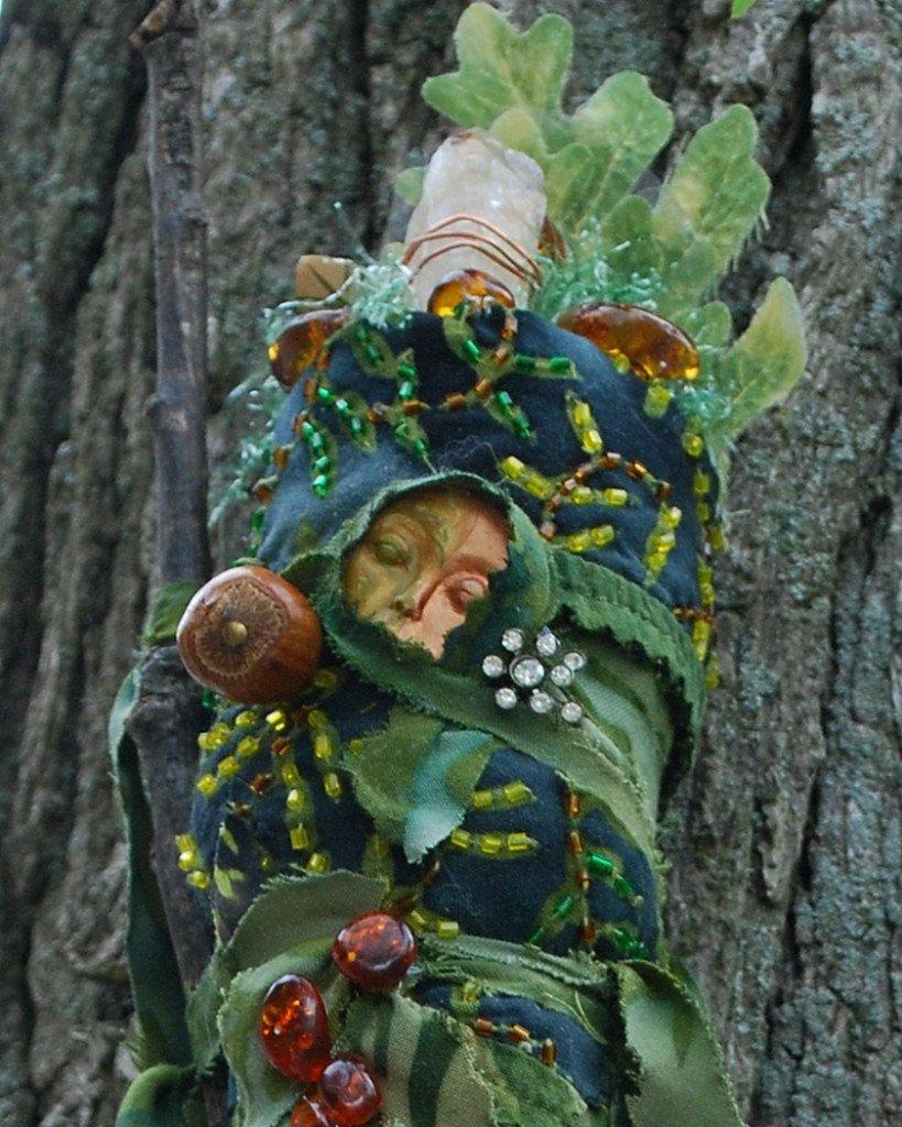 Dryad Spirit Art Doll Chrysopeleia Earth Day Nature Green