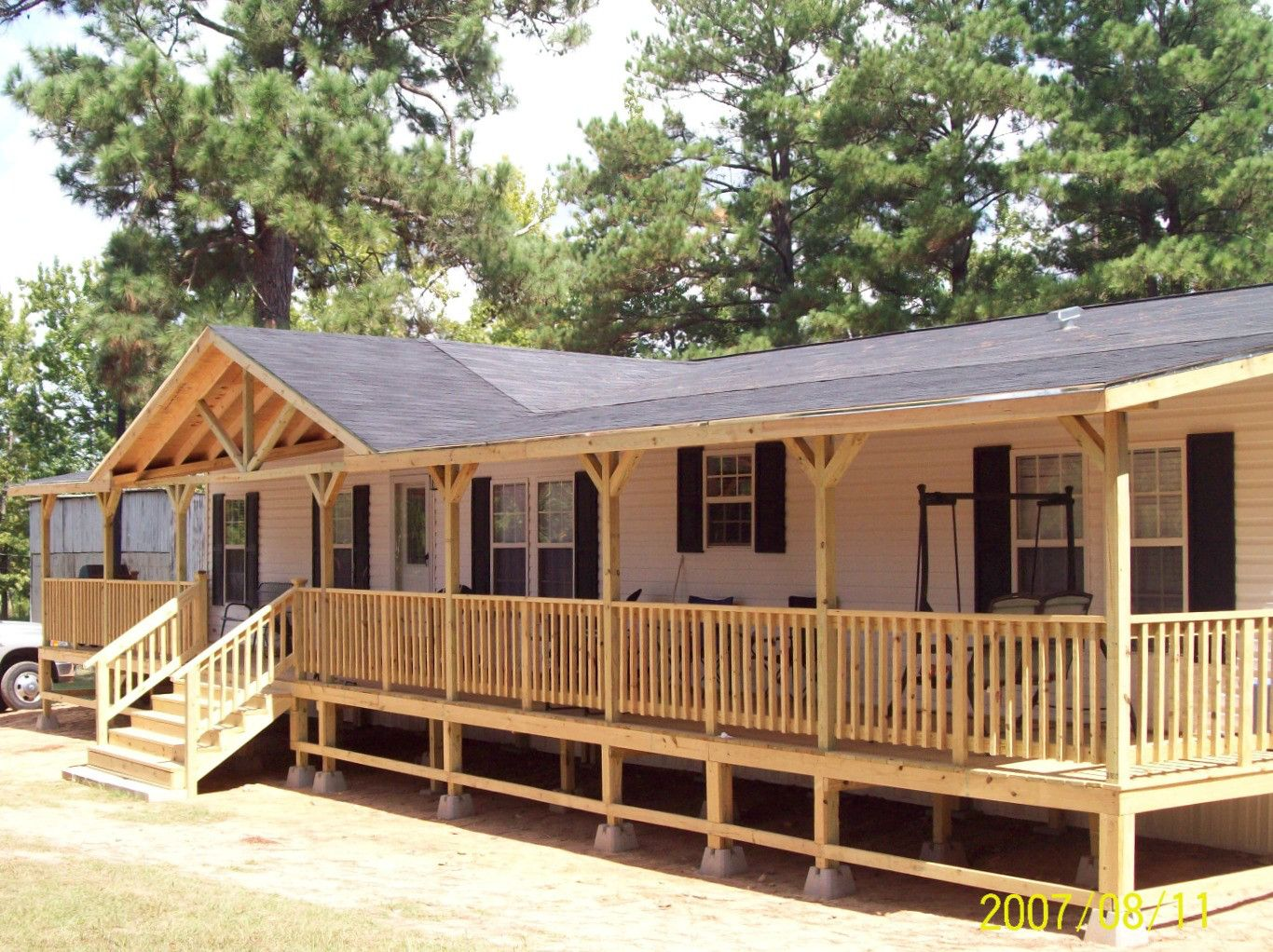 Unless You Don T Want To Have Your Own Space You Just Want A Shiny Little Bubble Really You Can Have Mobile Home Porch Manufactured Home Porch Porch Design