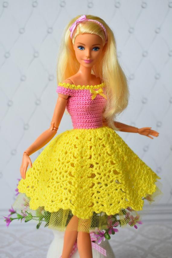 Barbie clothes, handmade, fashion doll, fashion barbie, dress crochet, doll clothes, Dresses, barbie dolls, Barbie outfit, fashion doll