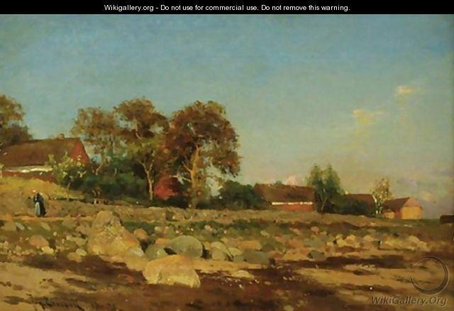 Johan Ericsson (1849-1925): Village In Autumn