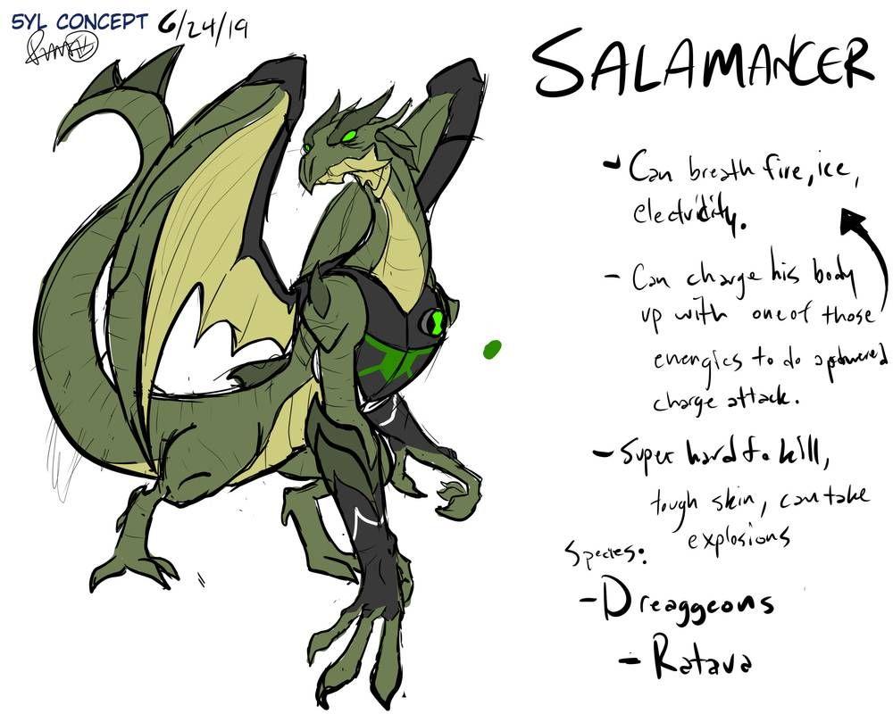 5yl Concept Salamancer By O R Ash On Deviantart Ben 10 Ben 10 Omniverse Space Drawings