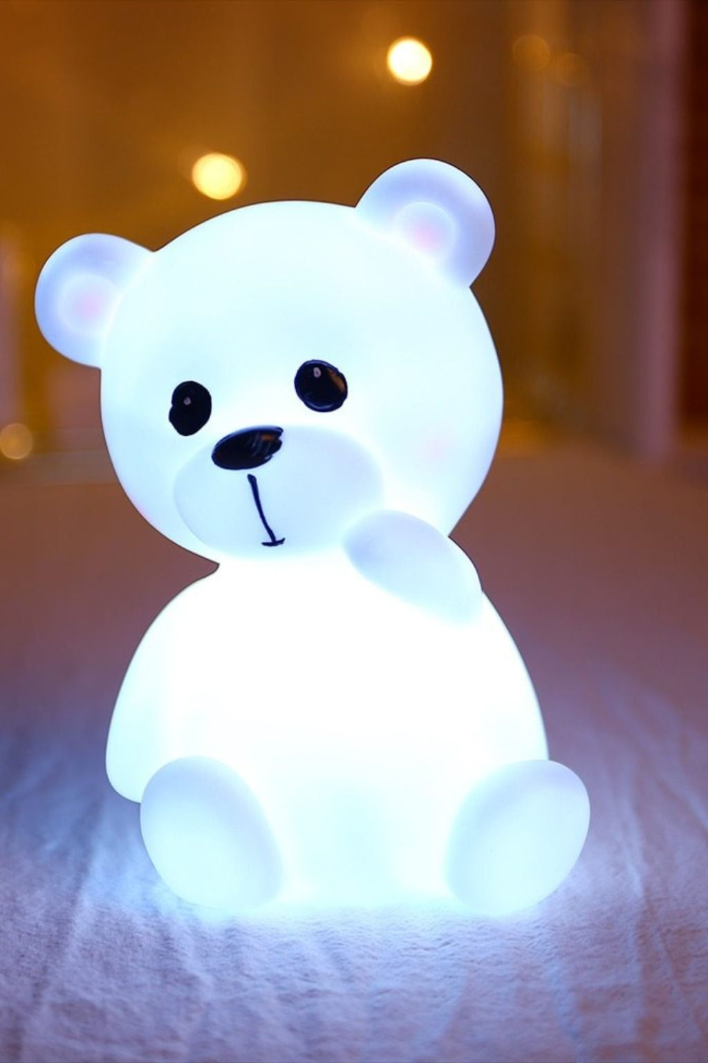 Adorable Silicon Led Teddy Bear Lamp In 2020 Pastel Home Decor Kids Bedroom Decor Home Goods Decor